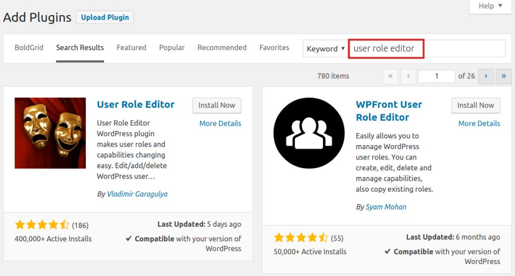 download user role editor plugin