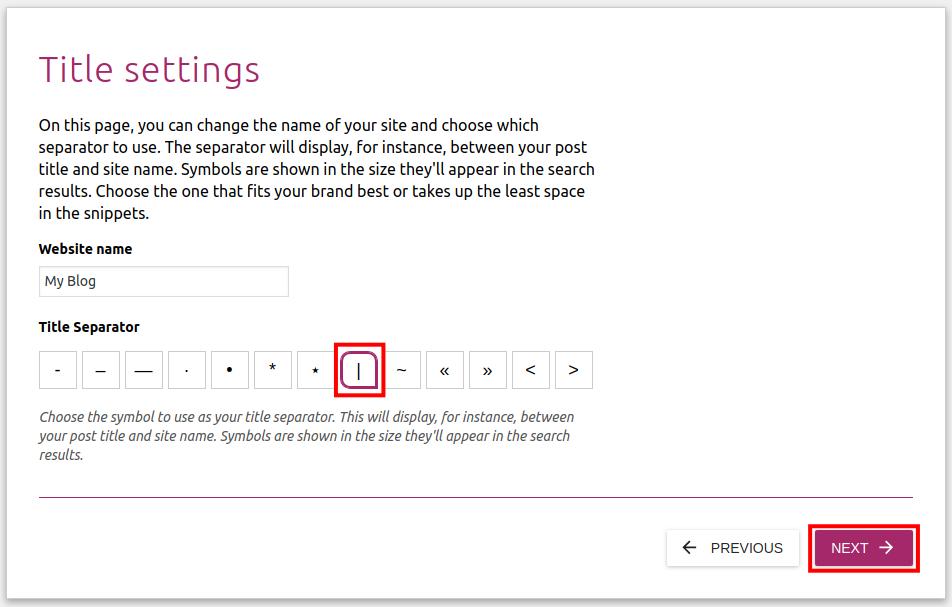 finish up yoast wordpress settings