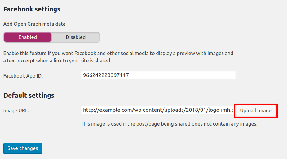configure facebook settings in yoast