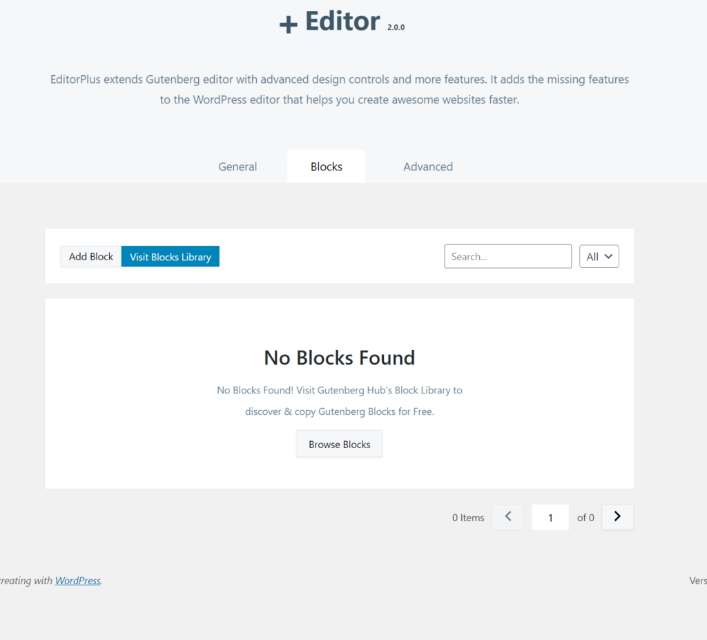 searching for additional blocks in editor plus