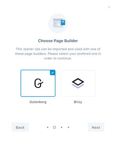 Choose your Page Builder