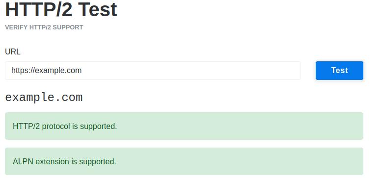 KeyCDN HTTP/2 test