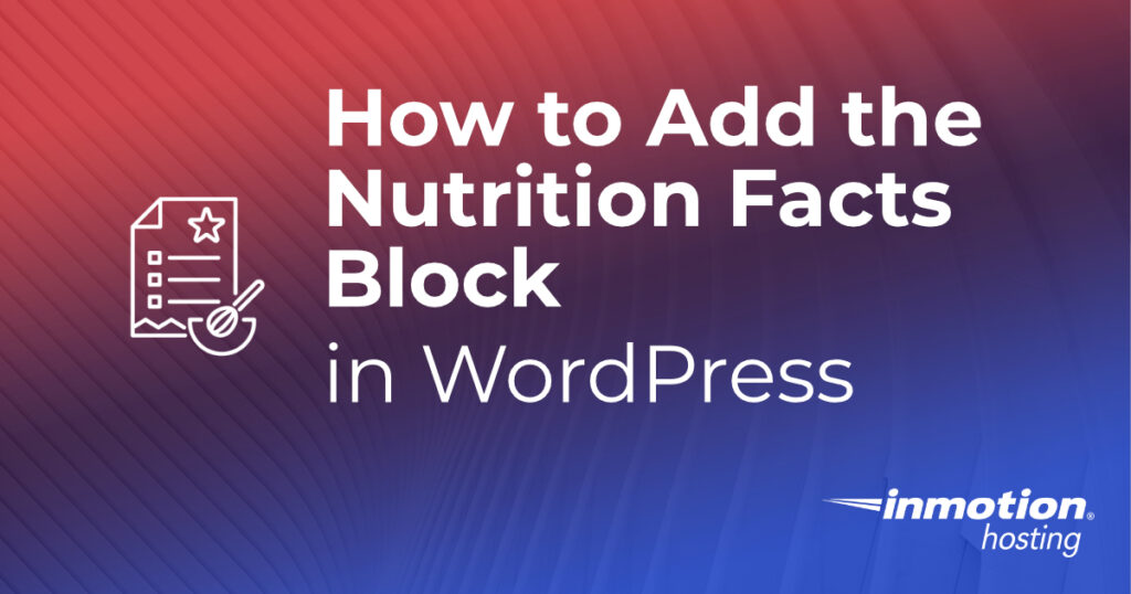 Nutrition Facts Block article header image