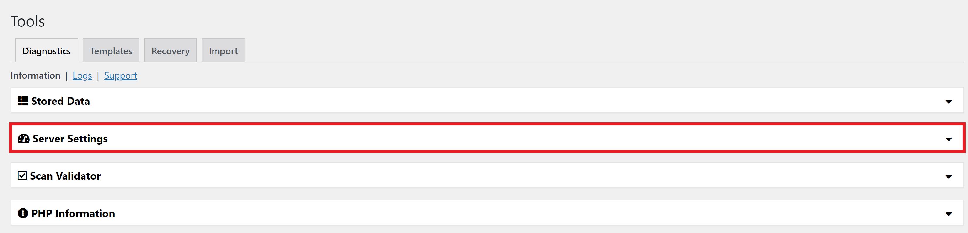 wordpress duplicator plugin server settings