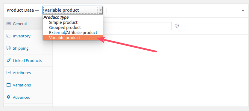 Select Variable Product