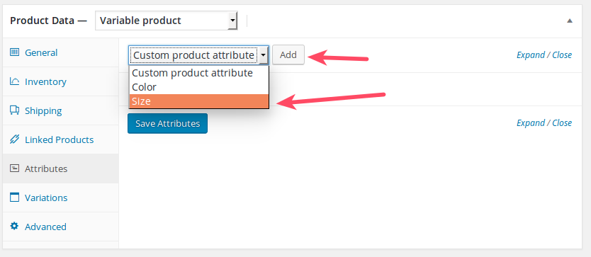 Variable Product Attributes