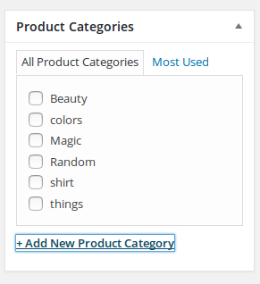 Add New Product Category