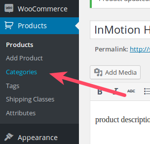Edit Product Categories