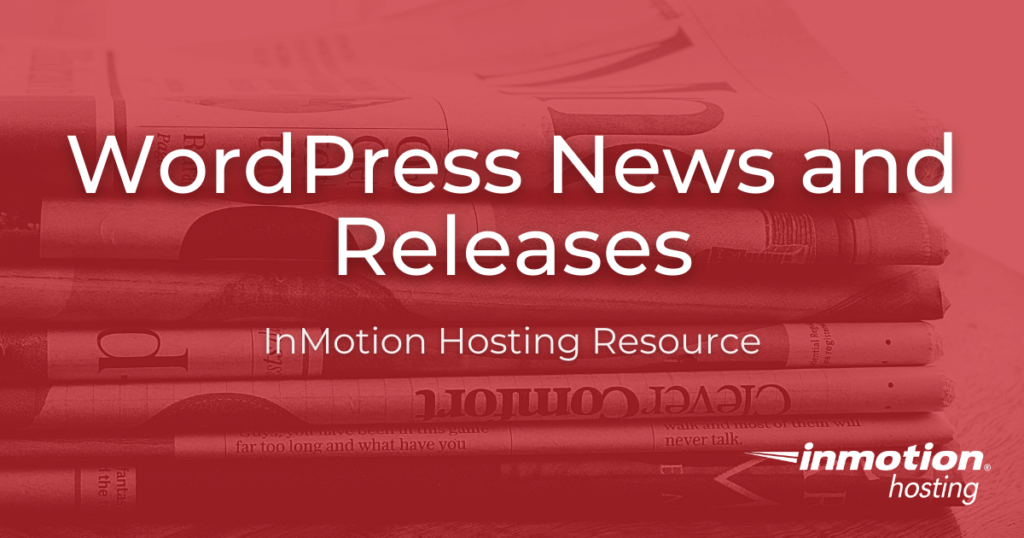 wordpress news and releases