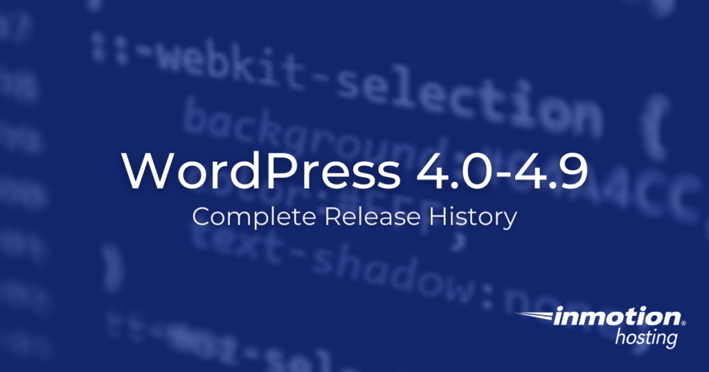 wordpress 4 release history