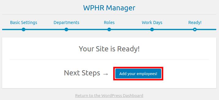 Adding an Employee in WordPress WP-HR