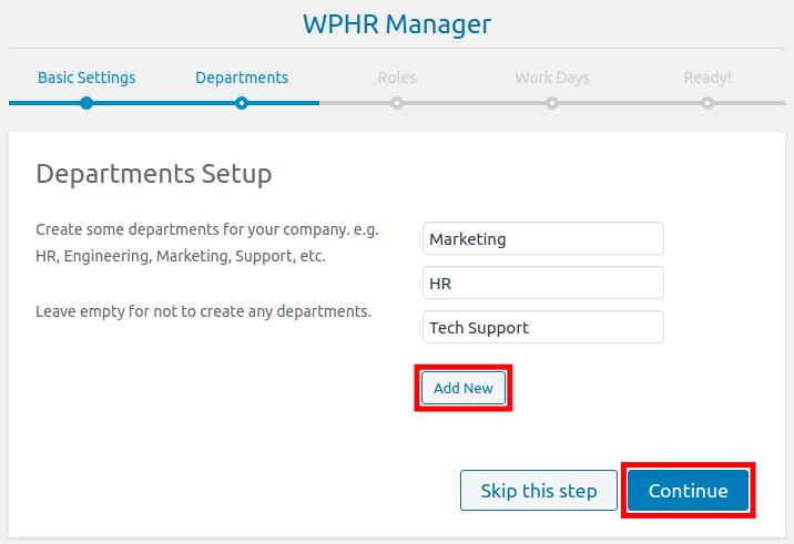 Set Up Department in WordPress