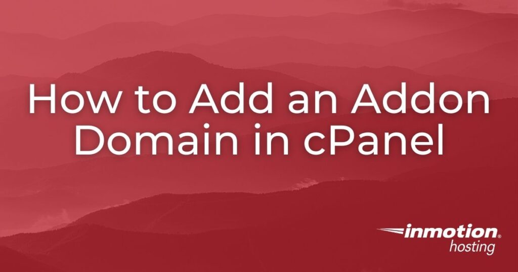 Add an Addon Domain header image for article