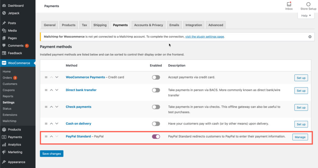 PayPal Settings - Part 1