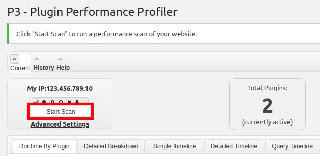 Start Scanning WordPress site