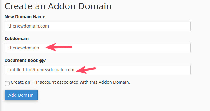 Subdomain and document root