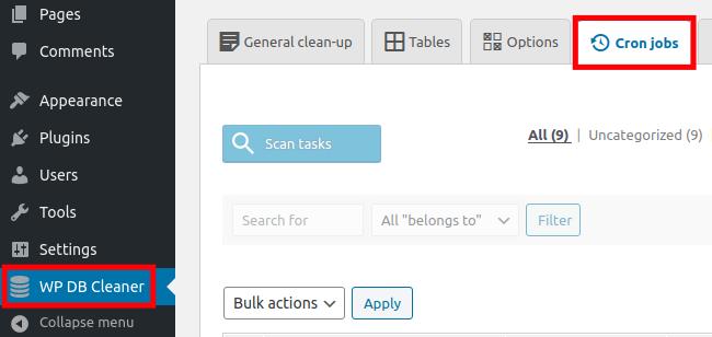WordPress Advanced Database Cleaner Cron Jobs