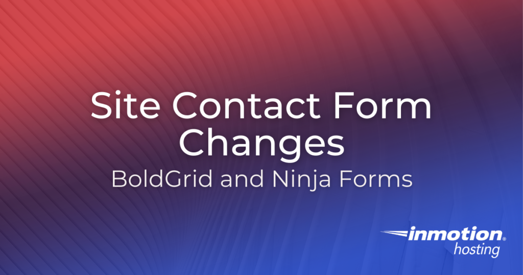 Site Contact Form Changes Hero Image