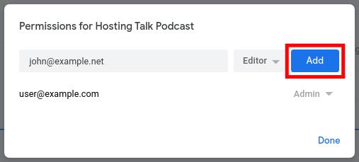 Adding Podcast User Permissions