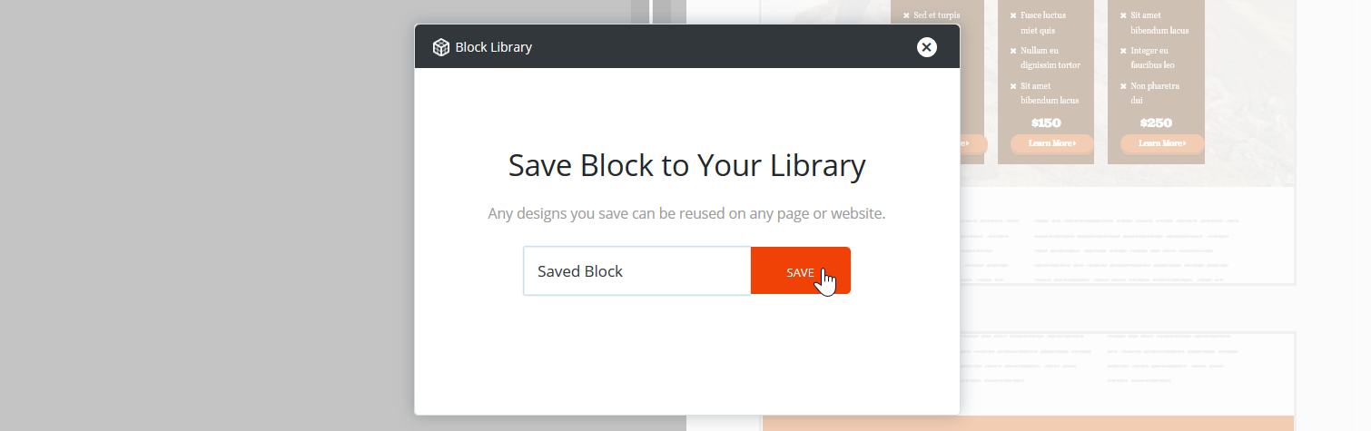 Save Block to Your Library