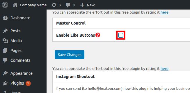 Enabling Social Media Like Buttons