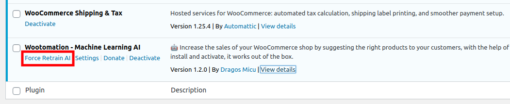 Force the WooCommerce AI to Retrain your site
