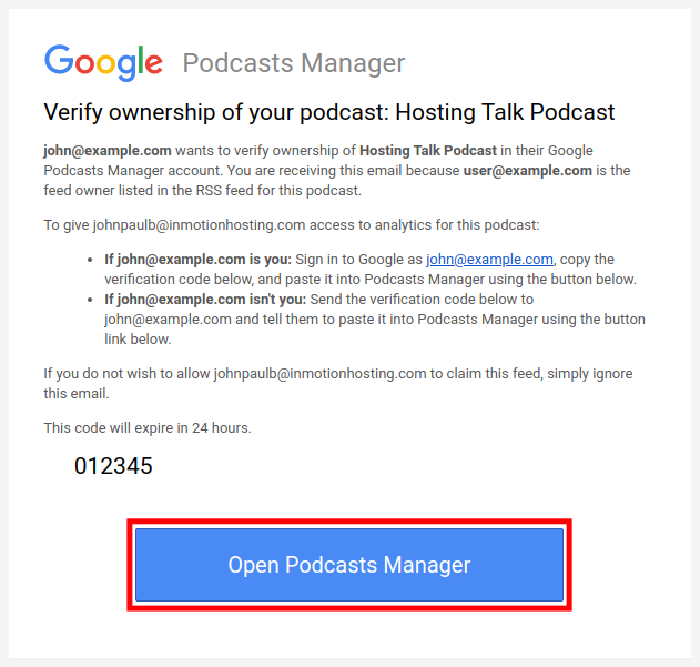 Access Google Podcasts Manager