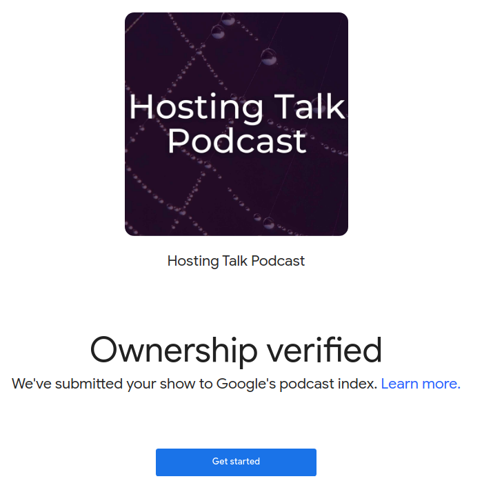 Podcast Ownership Confirmed