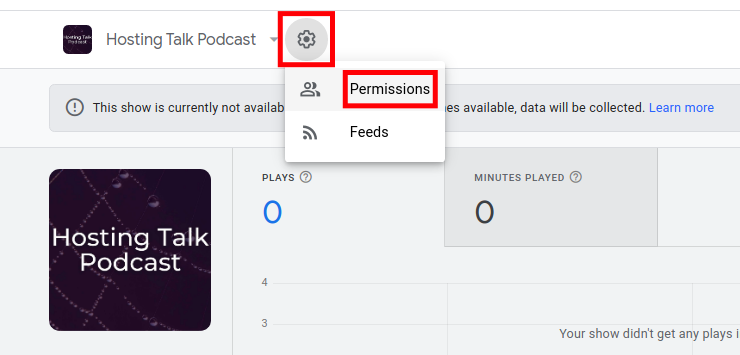 Add Google Podcasts Manager Admins