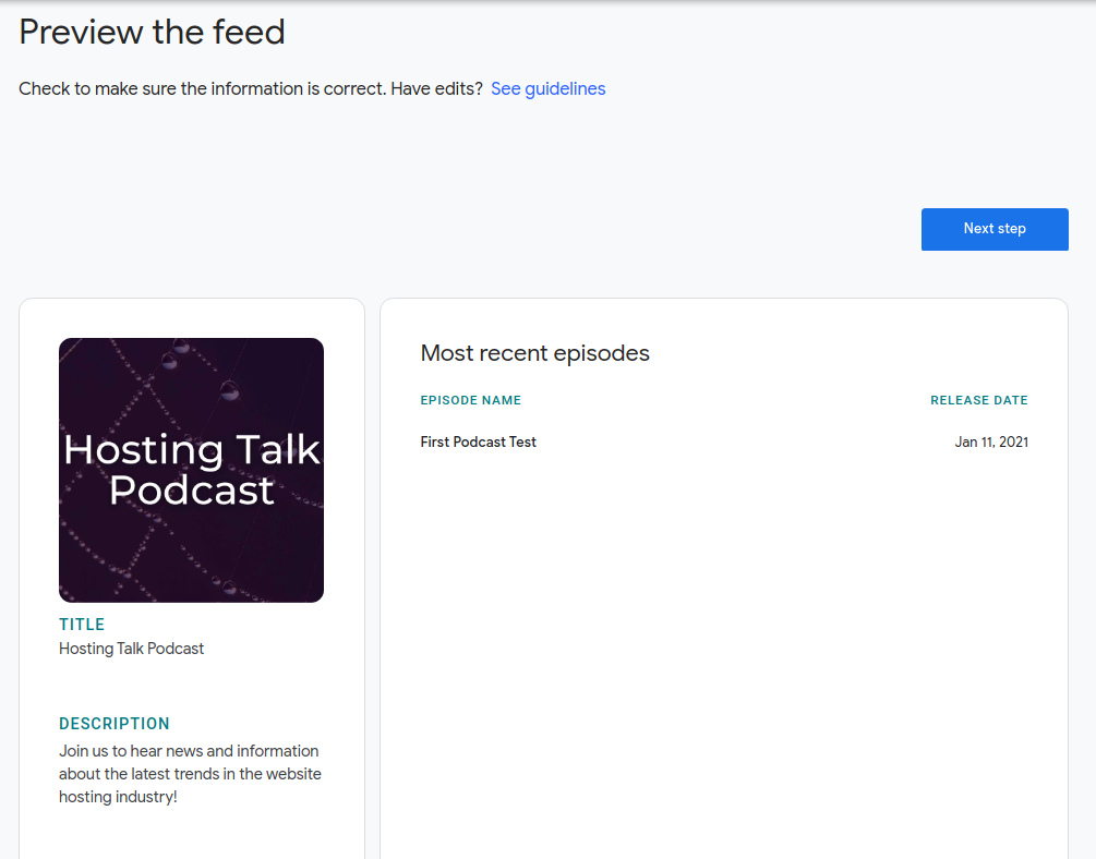 Review Your Podcast Feed