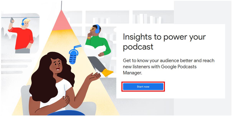 Start Google Podcasts Manager Setup