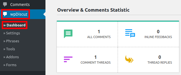 Comment Dashboard