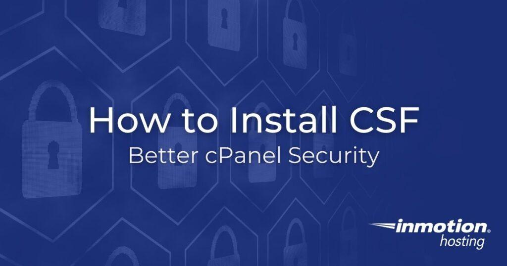 Install CSF Hero Image