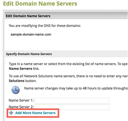 Adding  nameservers when none have been set