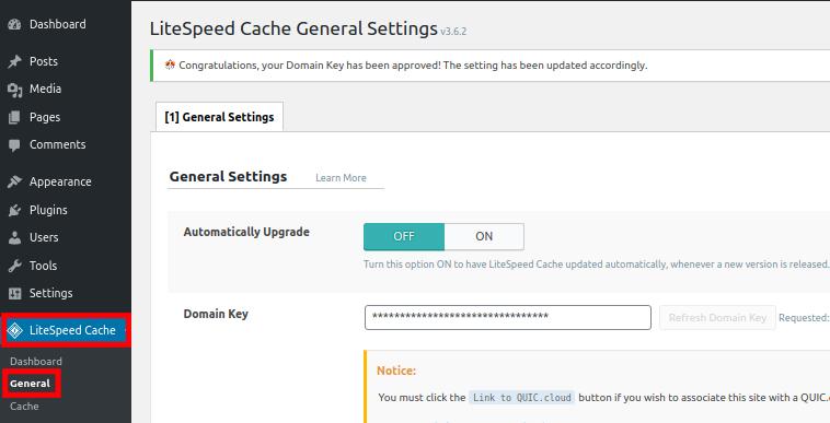 Setup Domain Key