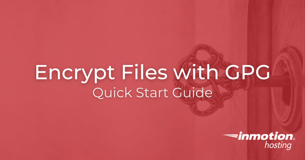 Title image for encrypt files with GPG