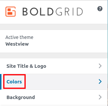 Updates Colors in the BoldGrid Customizer