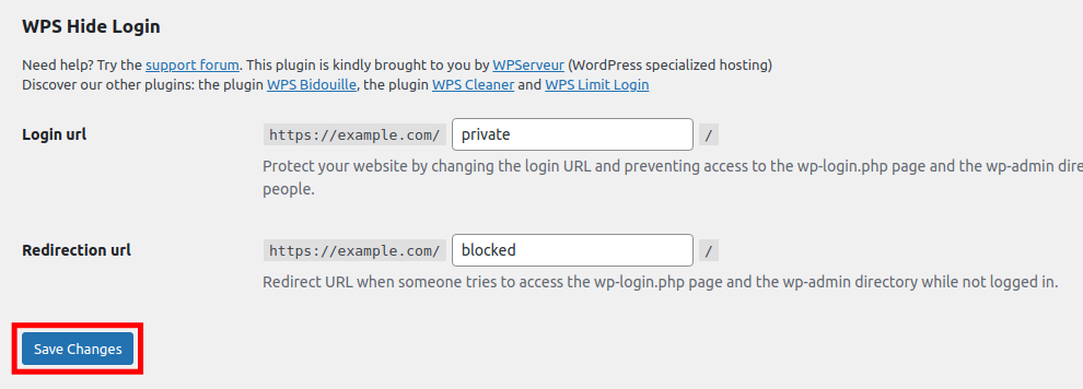 Save Redirect URL