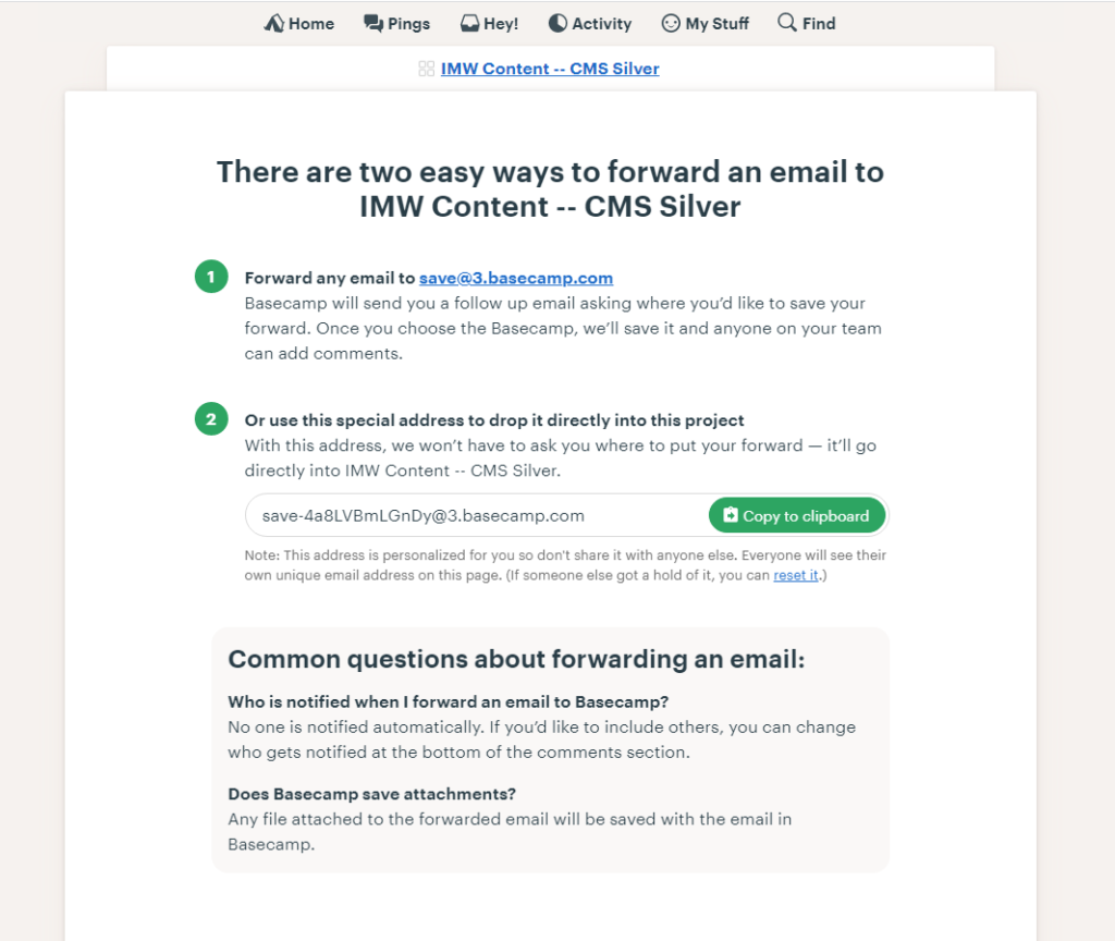 These are the two different methods you can utilize for email forwarding.