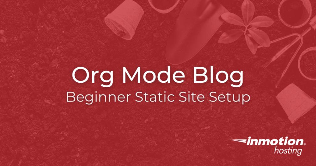 How to create an org mode blog