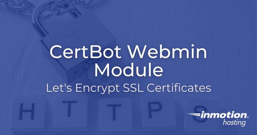 CertBot Webmin module