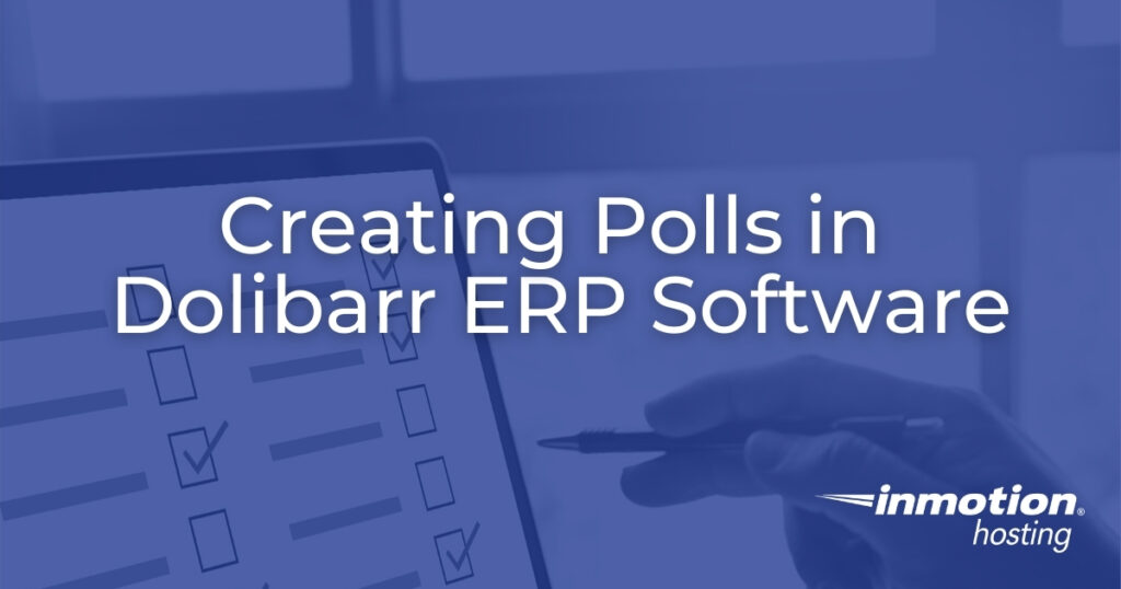 Creating Polls in Dolibarr ERP Software