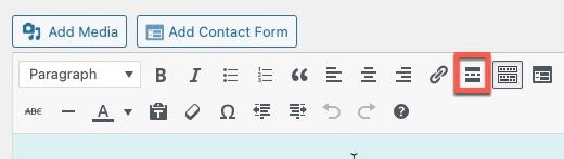 Classic Editor - Read more tag icon