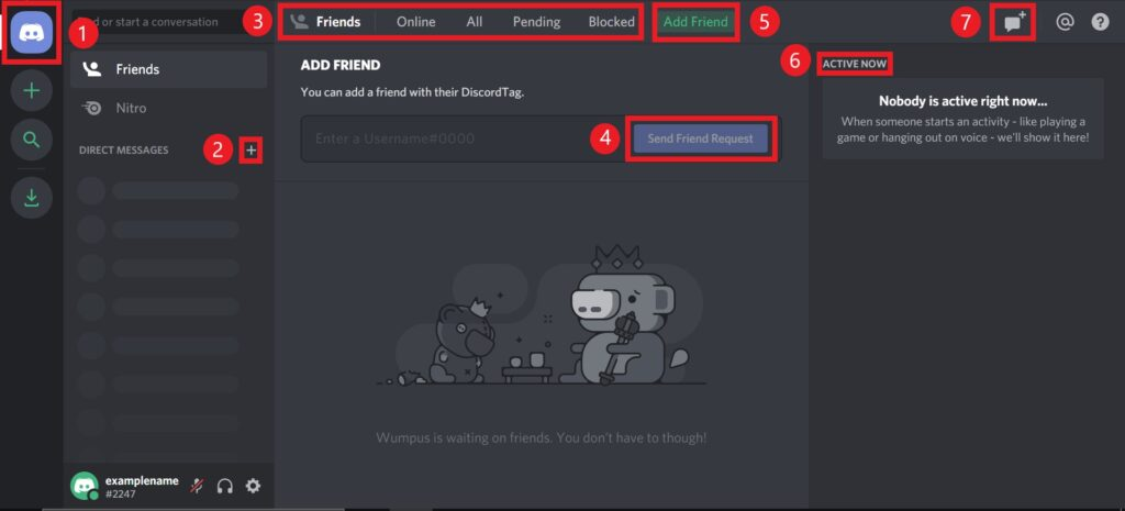 image of Discord Friends List