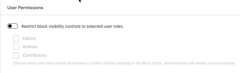 General Settings- User Permissions