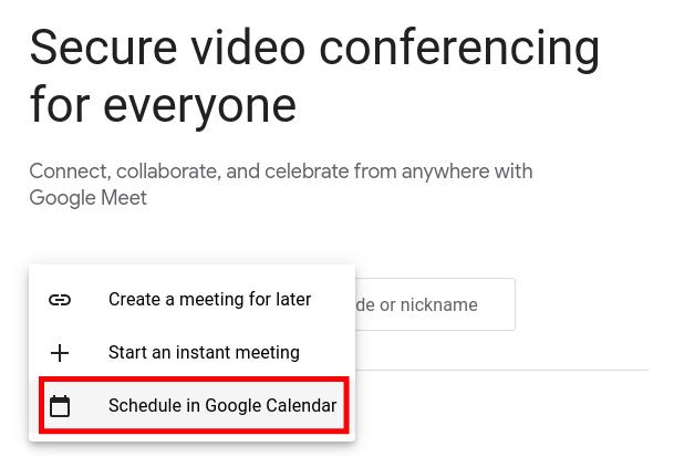 Schedule a Meeting in Google Calendar