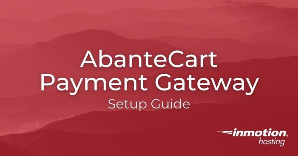Learn How To Setup an AbanteCart Payment Gateway