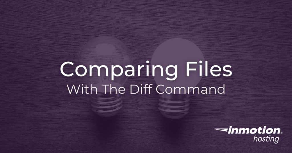 How to compare files with diff