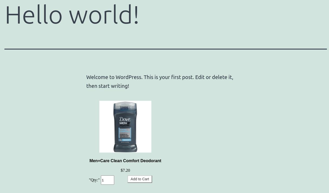 AbanteCart Product Embedded on WordPress Page