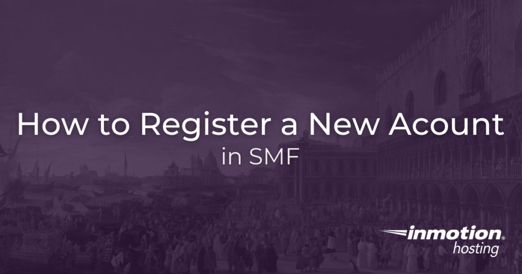 Register new account in SMF